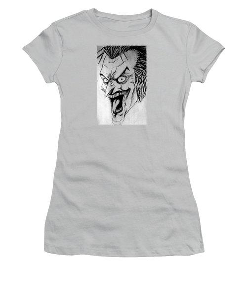 Women's T-Shirt (Junior Cut) featuring the painting Joker by Salman Ravish