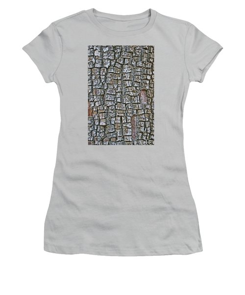 Women's T-Shirt (Junior Cut) featuring the photograph Juniper Bark- Texture Collection by Tom Janca