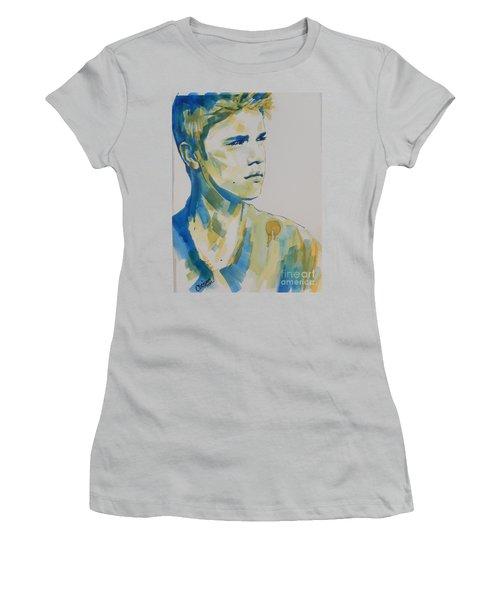 Justin Bieber Women's T-Shirt (Junior Cut) by Chrisann Ellis