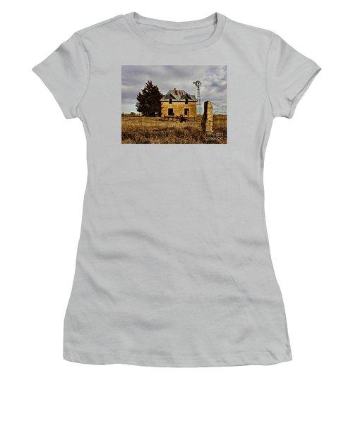 Women's T-Shirt (Junior Cut) featuring the photograph Kansas Castle 1 by Lynne Wright