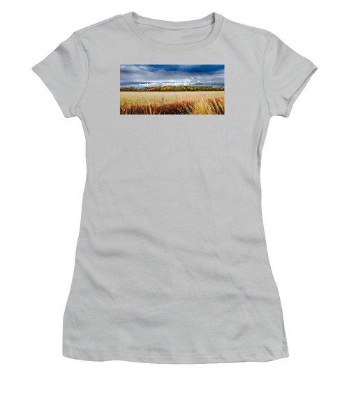 Kansas Fall Landscape Women's T-Shirt (Athletic Fit)