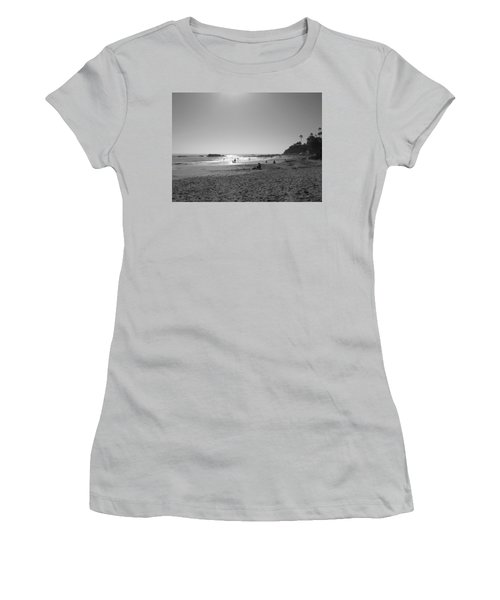 Laguna Sunset Reflection Women's T-Shirt (Junior Cut) by Connie Fox