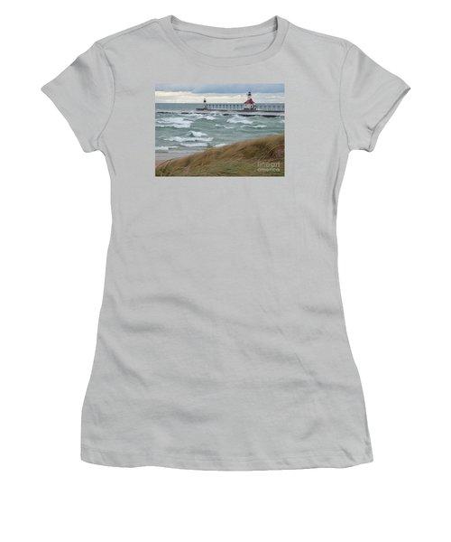 Lake Michigan Winds Women's T-Shirt (Junior Cut) by Ann Horn