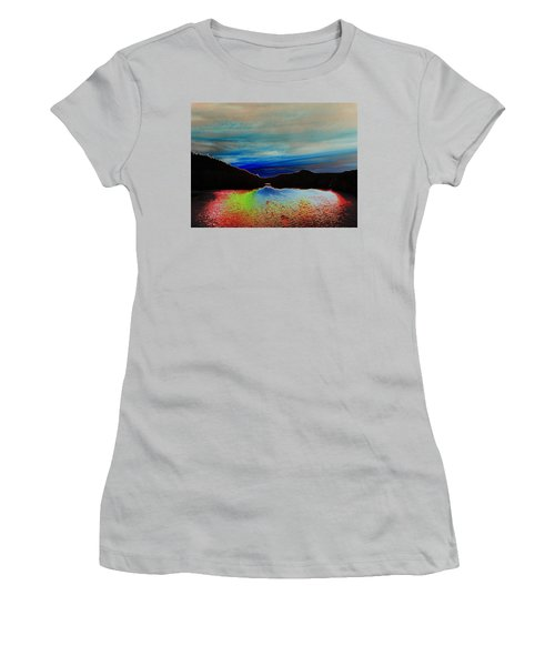 Landscape Abstract Women's T-Shirt (Athletic Fit)
