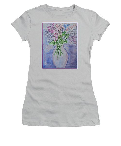 Lavendar  Flowers Women's T-Shirt (Athletic Fit)
