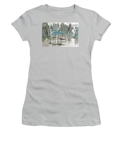 Li River In Spring Women's T-Shirt (Junior Cut) by Yufeng Wang