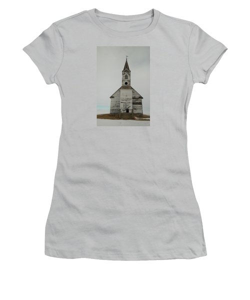 Like An Angel Boarded Up Women's T-Shirt (Athletic Fit)