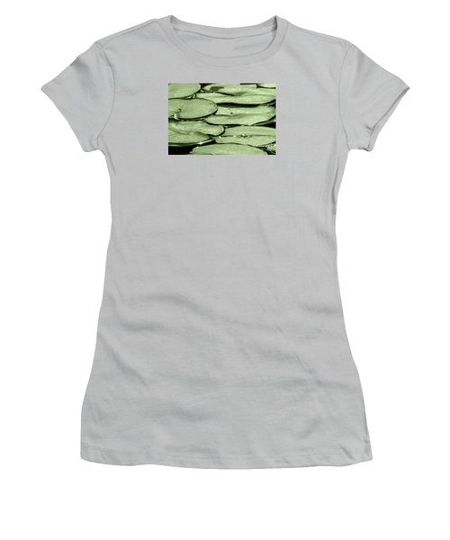 Women's T-Shirt (Junior Cut) featuring the photograph Lilypads by Roselynne Broussard