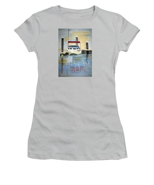 Lone Boat Women's T-Shirt (Athletic Fit)