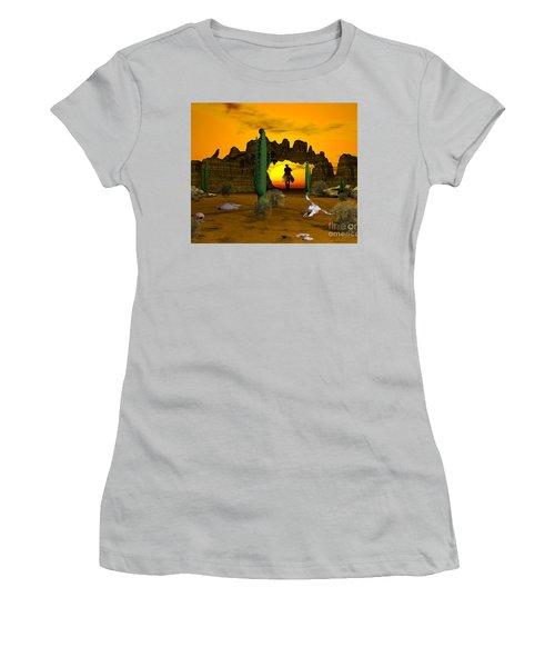 Lonesome Dove Women's T-Shirt (Junior Cut) by Jacqueline Lloyd