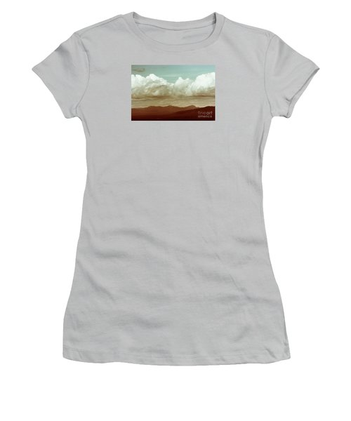 Women's T-Shirt (Junior Cut) featuring the photograph Long Horizon by Dana DiPasquale