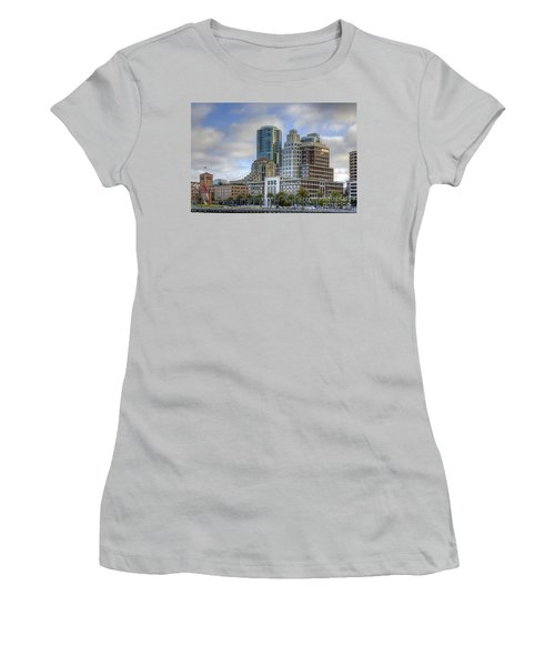 Women's T-Shirt (Junior Cut) featuring the photograph Looking Downtown by Kate Brown