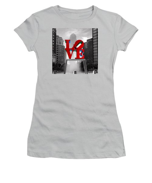 Love Is Always Black And White Square Women's T-Shirt (Junior Cut) by Paul Ward
