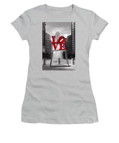 Love Isn't Always Black And White Women's T-Shirt (Junior Cut) by Paul Ward