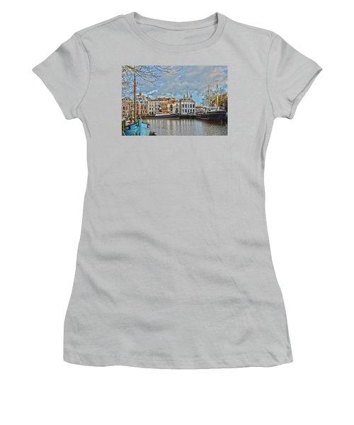 Maassluis Harbour Women's T-Shirt (Athletic Fit)