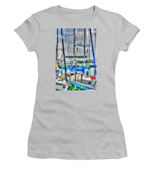 Mackinac Island Harbor Women's T-Shirt (Athletic Fit)