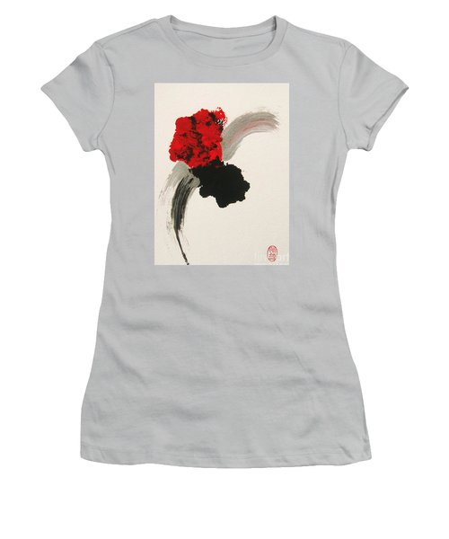 Women's T-Shirt (Junior Cut) featuring the painting Maruhanabachi by Roberto Prusso