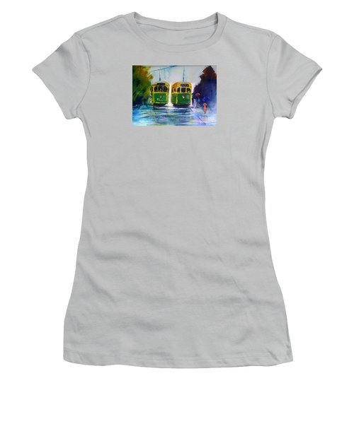 Melbourne Trams Women's T-Shirt (Junior Cut) by Therese Alcorn