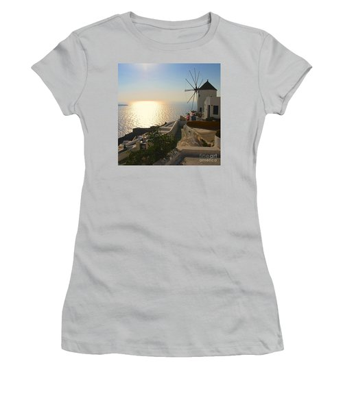 Midday On Santorini Women's T-Shirt (Athletic Fit)