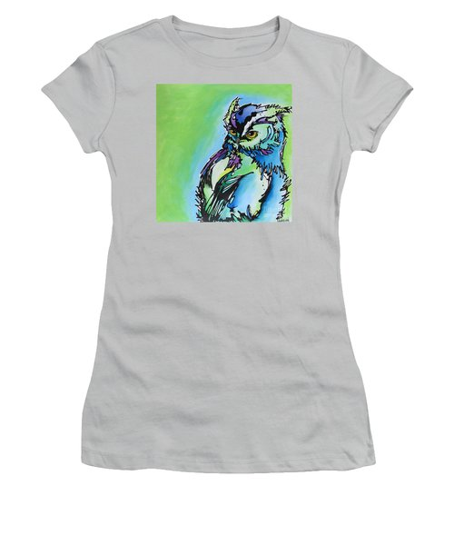 Women's T-Shirt (Junior Cut) featuring the painting Million Dollar Man by Nicole Gaitan