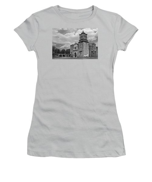 Mission San Jose Bw Women's T-Shirt (Athletic Fit)