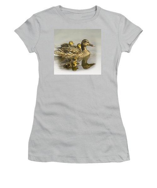 Momma And Babies Women's T-Shirt (Junior Cut) by Sonya Lang