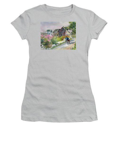 Monhegan In August Women's T-Shirt (Athletic Fit)