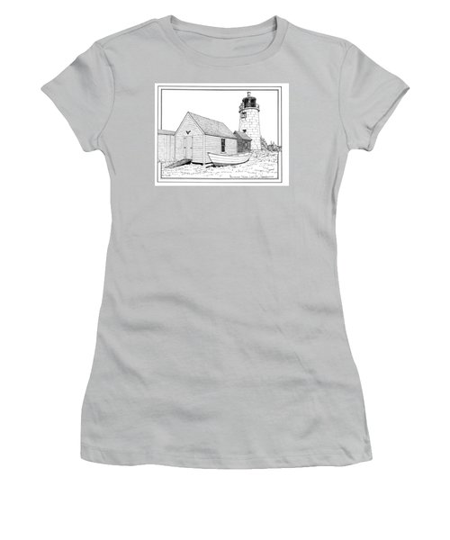 Monhegan Island Light Women's T-Shirt (Athletic Fit)