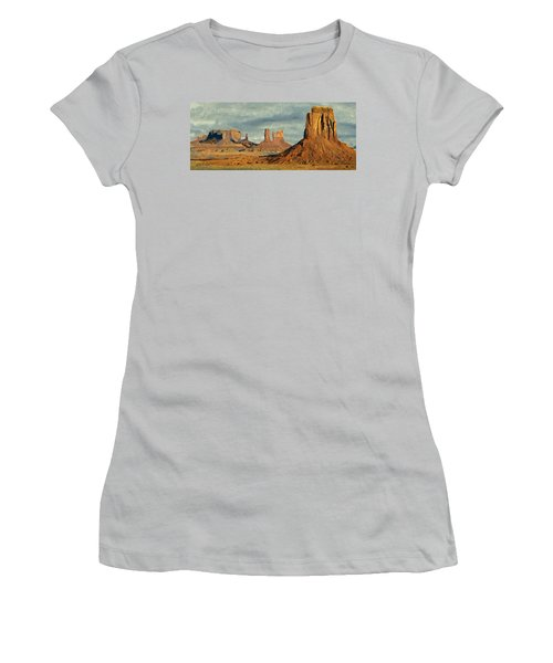 Women's T-Shirt (Junior Cut) featuring the painting Monumental by Jeff Kolker