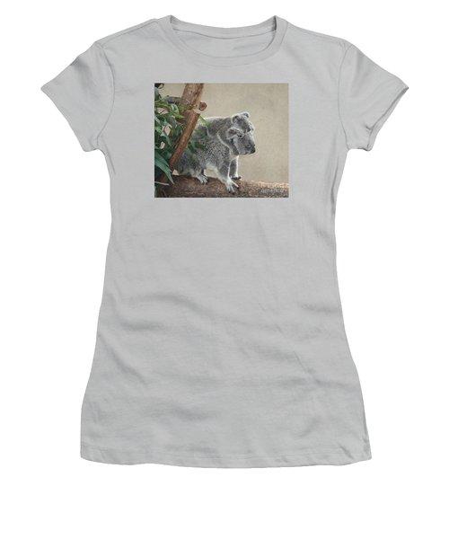 Mother And Child Koalas Women's T-Shirt (Junior Cut) by John Telfer