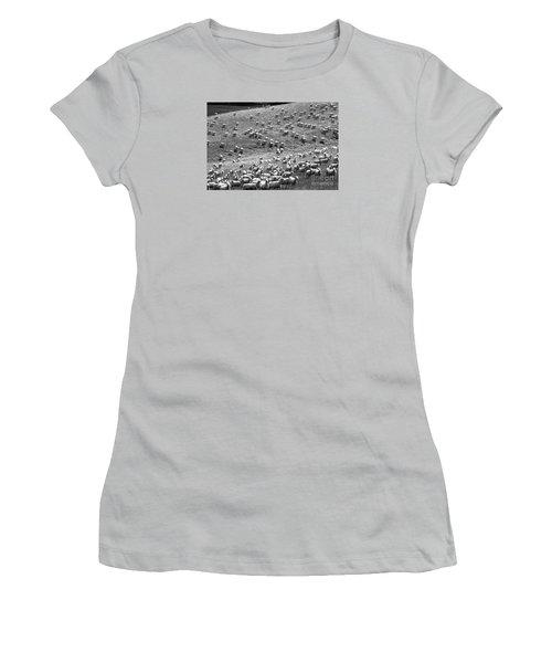 Women's T-Shirt (Junior Cut) featuring the photograph Moving Hillside by Nareeta Martin