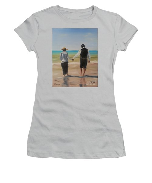 Mr. Carson And Mrs. Hughes Women's T-Shirt (Junior Cut) by Bev Conover