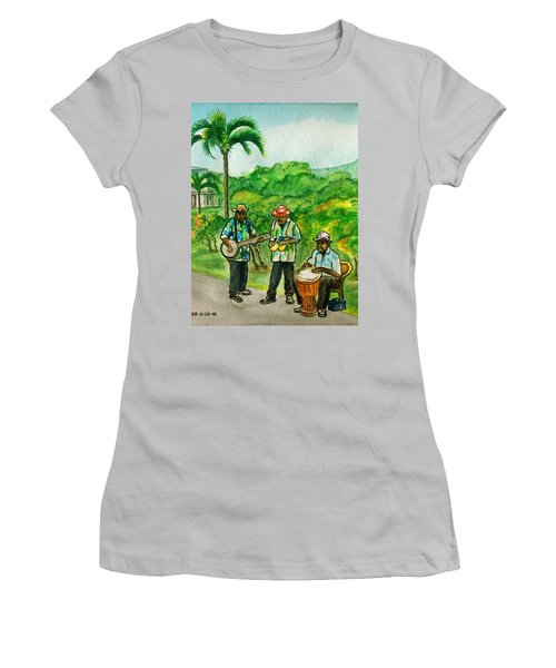 Musicians On Island Of Grenada Women's T-Shirt (Athletic Fit)