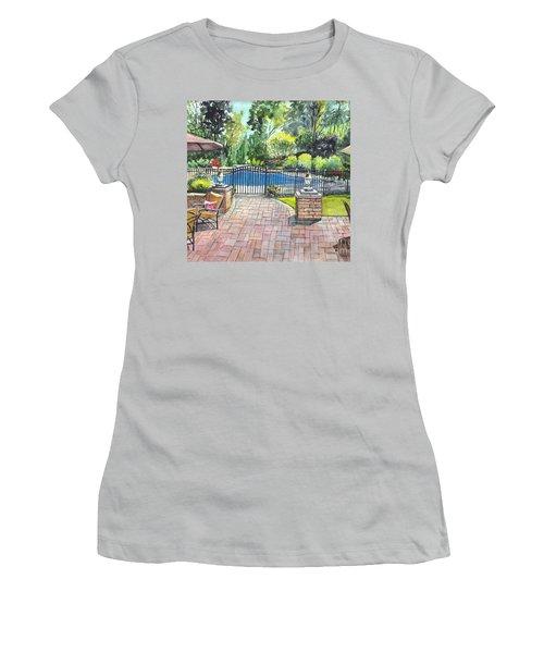 My Backyard Vacation Women's T-Shirt (Junior Cut) by Carol Wisniewski