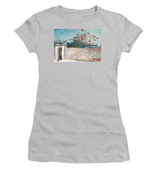Nassau Bahamas Women's T-Shirt (Junior Cut) by Winslow Homer