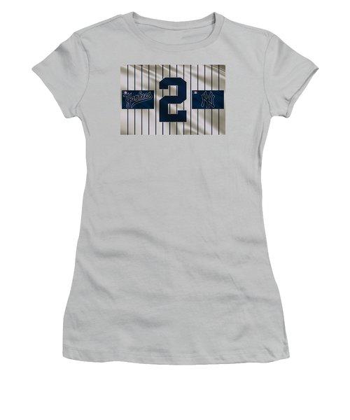New York Yankees Derek Jeter Women's T-Shirt (Athletic Fit)
