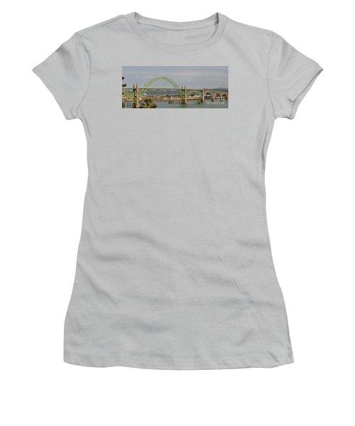 Newport Bay Bridge Women's T-Shirt (Junior Cut) by Susan Garren