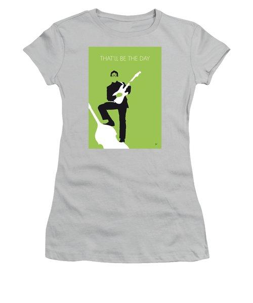 No056 My Buddy Holly Minimal Music Poster Women's T-Shirt (Junior Cut) by Chungkong Art