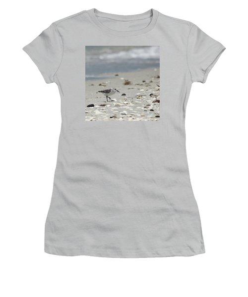 Nokomis Beach Piper Women's T-Shirt (Junior Cut) by Susan Molnar
