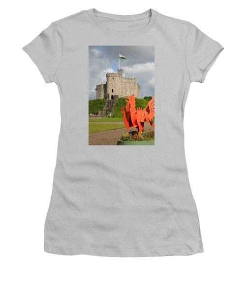 Norman Keep Cardiff Castle Women's T-Shirt (Junior Cut) by Jeremy Voisey