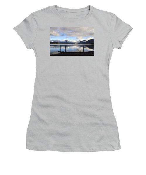 Women's T-Shirt (Junior Cut) featuring the photograph North Douglas Reflections by Cathy Mahnke