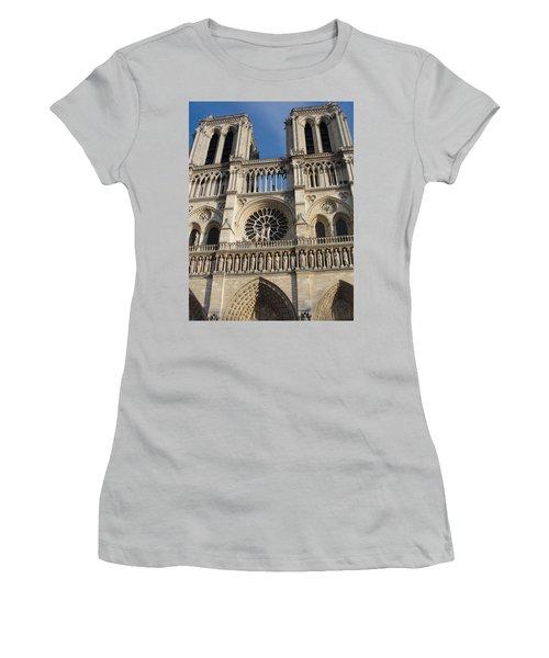 Women's T-Shirt (Junior Cut) featuring the photograph Notre Dame by Tiffany Erdman