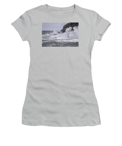 Ocean Surge At Gulliver's Women's T-Shirt (Junior Cut) by Marty Saccone