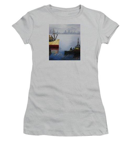 Oil Msc 025  Women's T-Shirt (Athletic Fit)