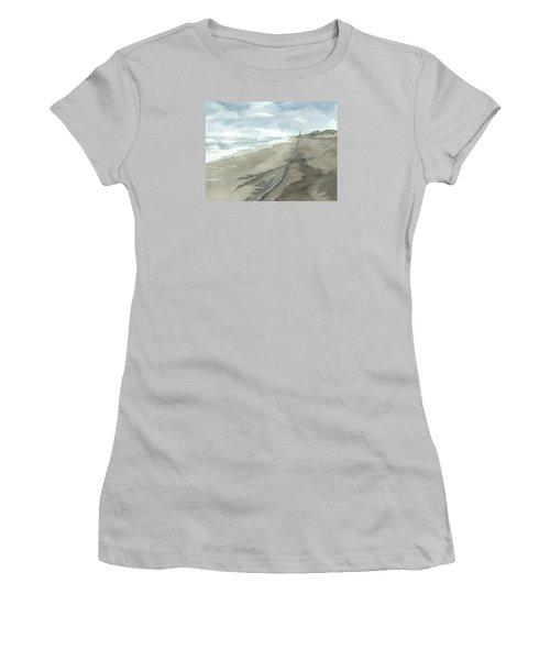 Old Hatteras Light Women's T-Shirt (Junior Cut) by Joel Deutsch