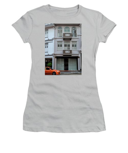 Women's T-Shirt (Junior Cut) featuring the photograph Old House And Funky Orange Car by Imran Ahmed