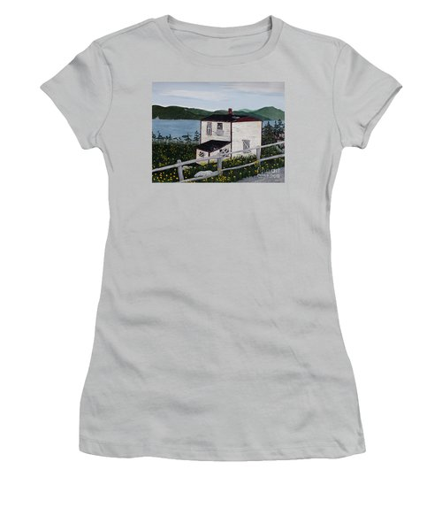 Women's T-Shirt (Junior Cut) featuring the painting Old House - If Walls Could Talk by Barbara Griffin