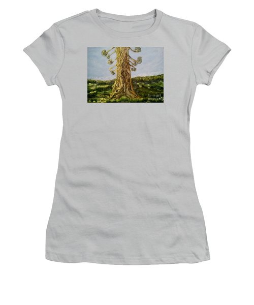 Old Tree In Spring Light Women's T-Shirt (Athletic Fit)