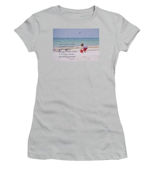 One Moment In Time Women's T-Shirt (Junior Cut) by Peggy Hughes