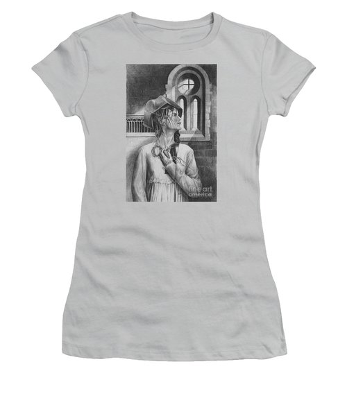 Ophelia Women's T-Shirt (Junior Cut) by Yvonne Wright